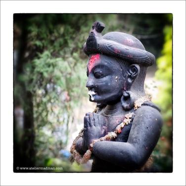 Praying Statue - Pharping Nepal